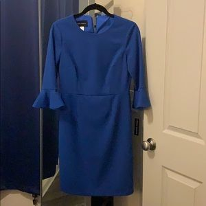 NWT cornflower blue dress with belled sleeves